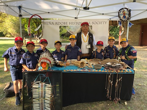 Cub Scouts Visit Peña Adobe with docent Armando!
