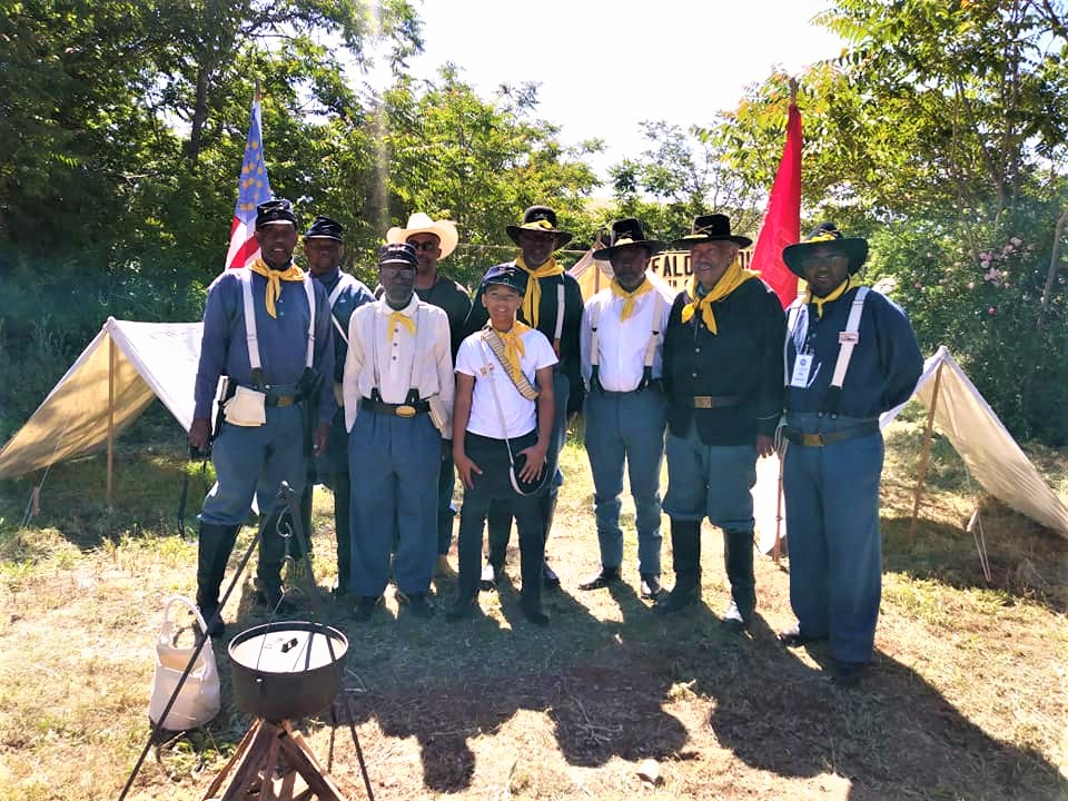 Members of the 10th Cavalry, Company G of Northern California, the Buffalo Soldiers!