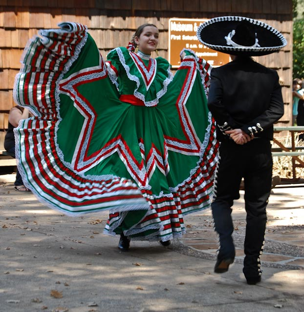 "Dancers from ""Folklorico Juvenil - Danzantes Unidos de Vacaville""  perform at Peña Adobe Park."