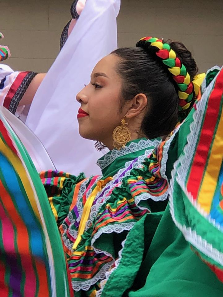 Nancy, a sophomore from Vacaville High School performs at Peña Adobe Park.