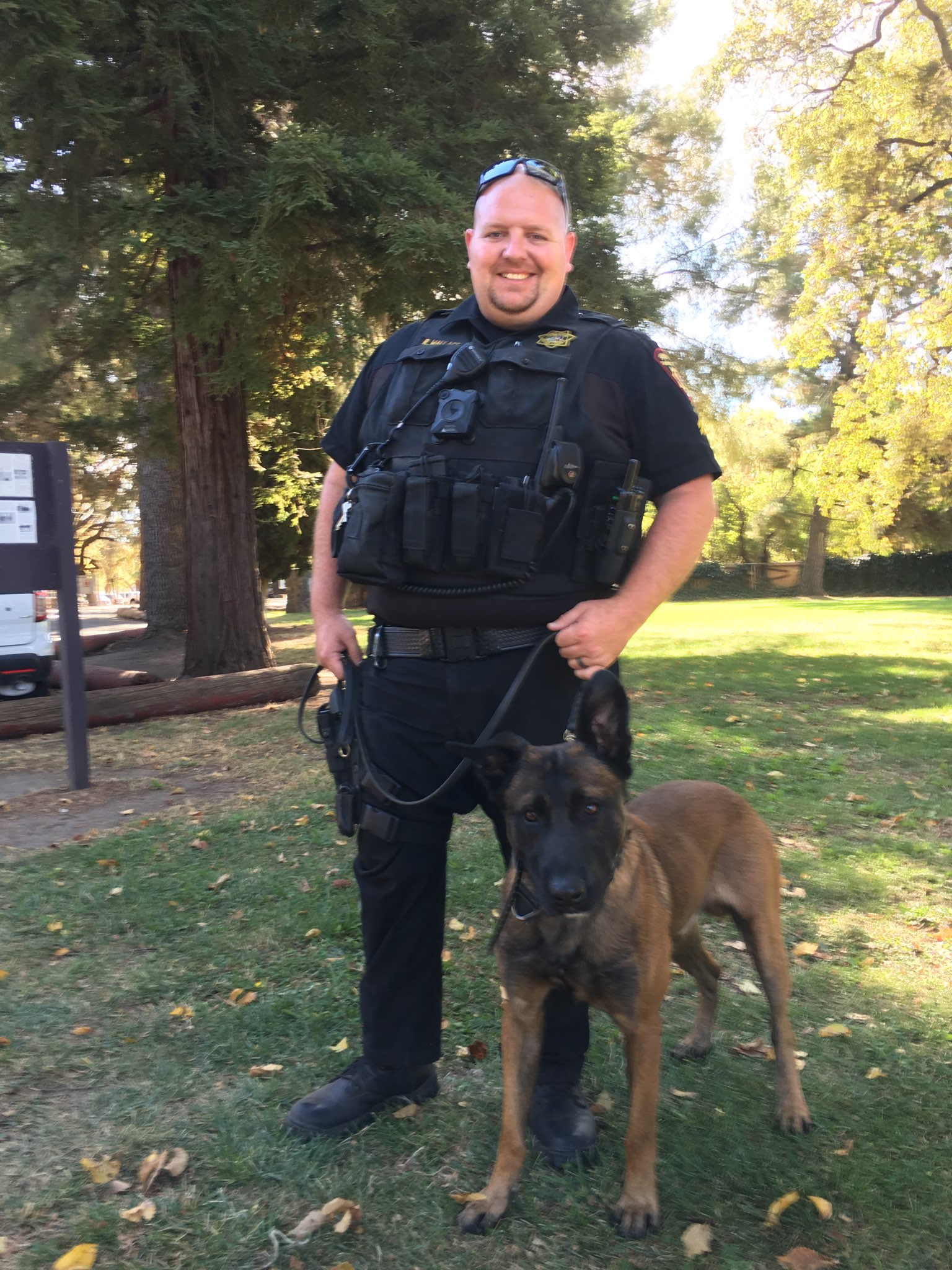 Deputy Ryan Wallace and K9 Ted