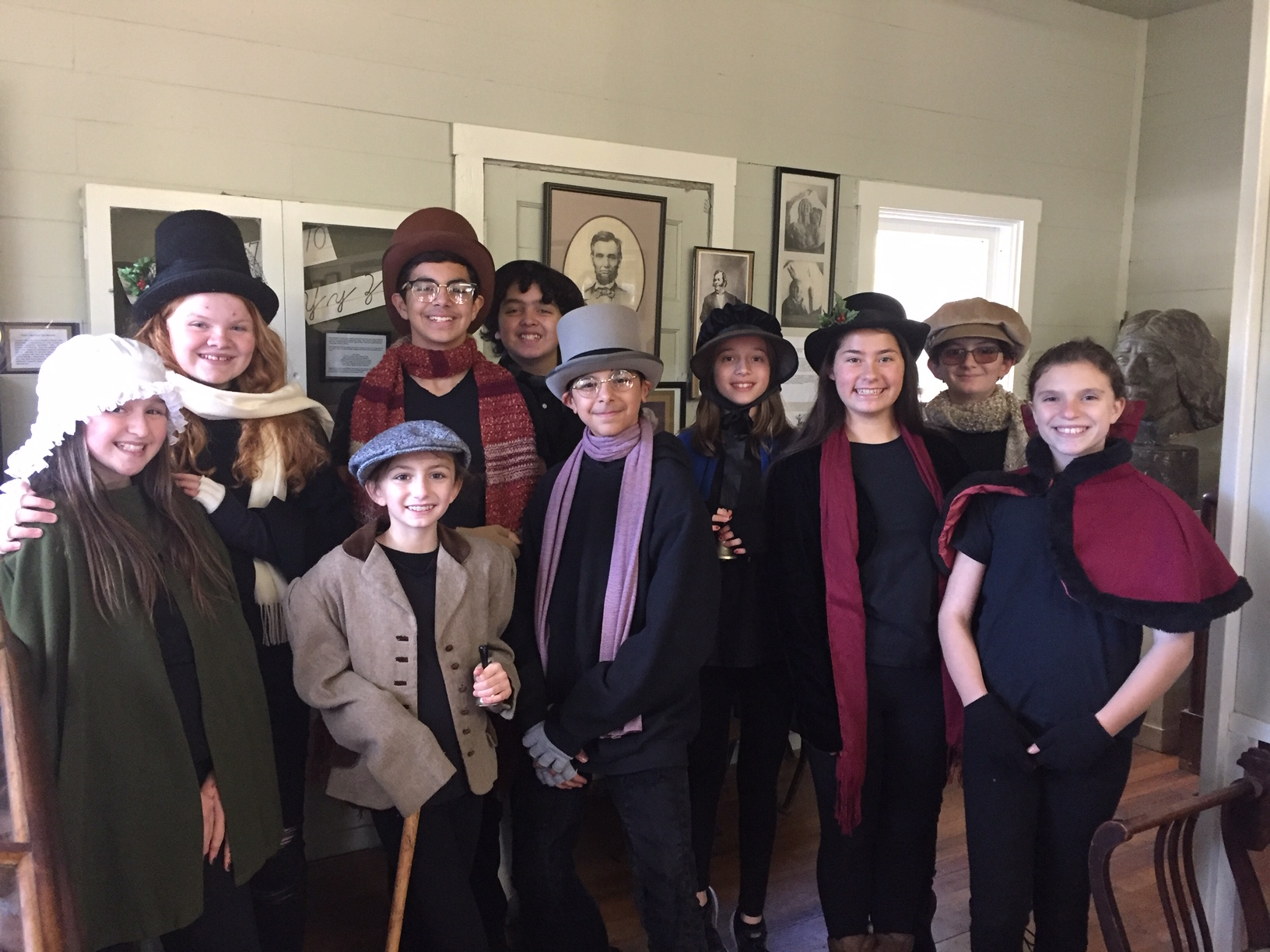 Singers from the Starbound Theater will sing Christmas Carols at the Peña Adobe!