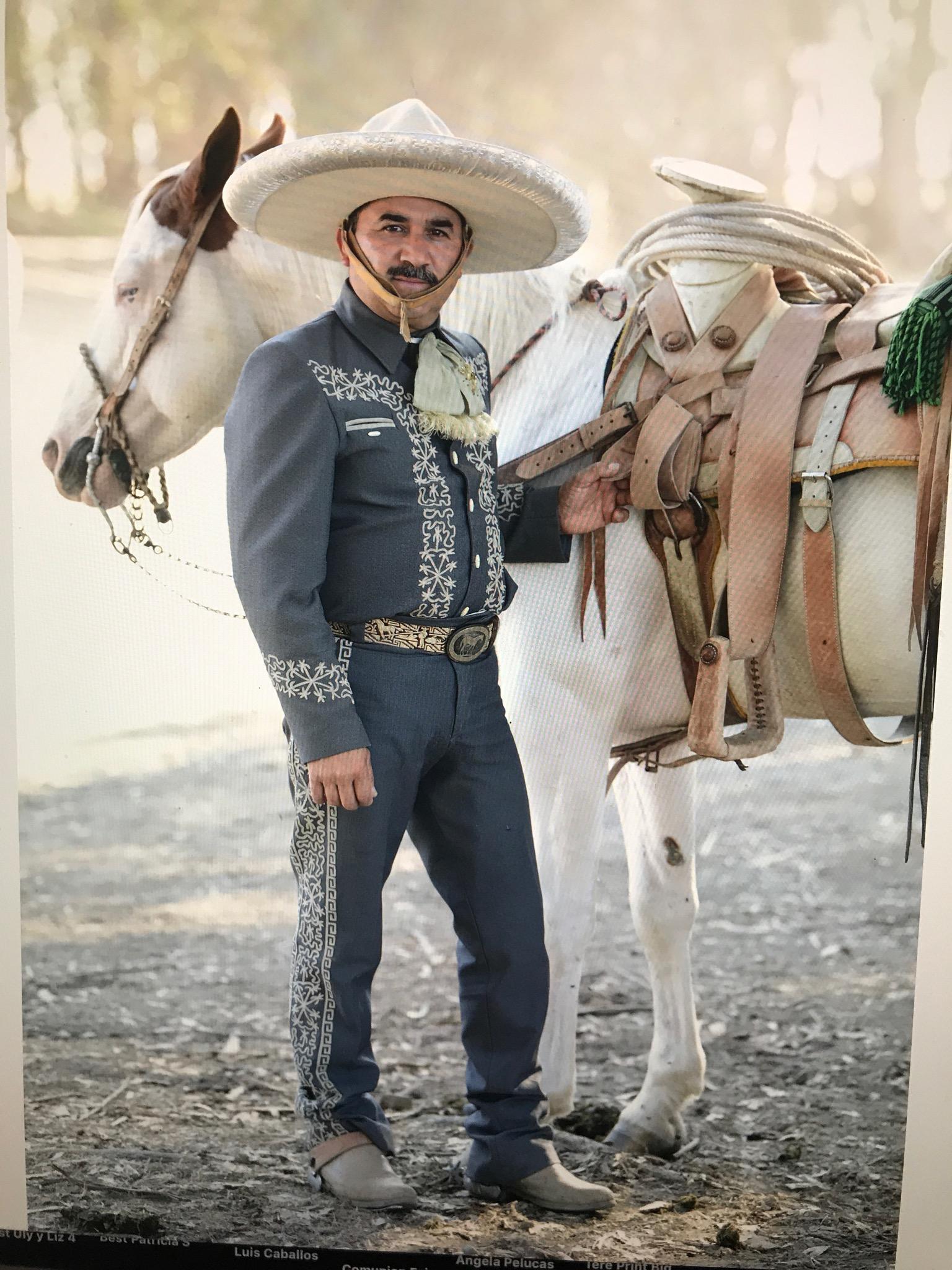 Francisco Pulido of Rancho El Zapotillo in Dixon with his horse Pirate!