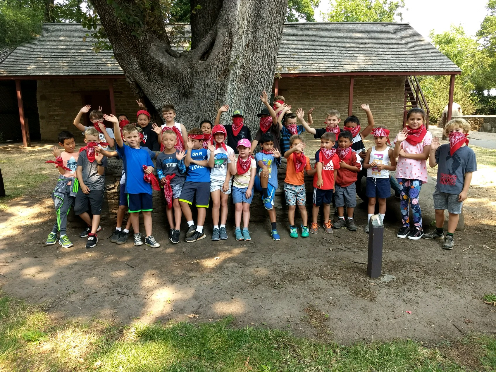 Camp Adobe Campers in front of the Peña Adobe