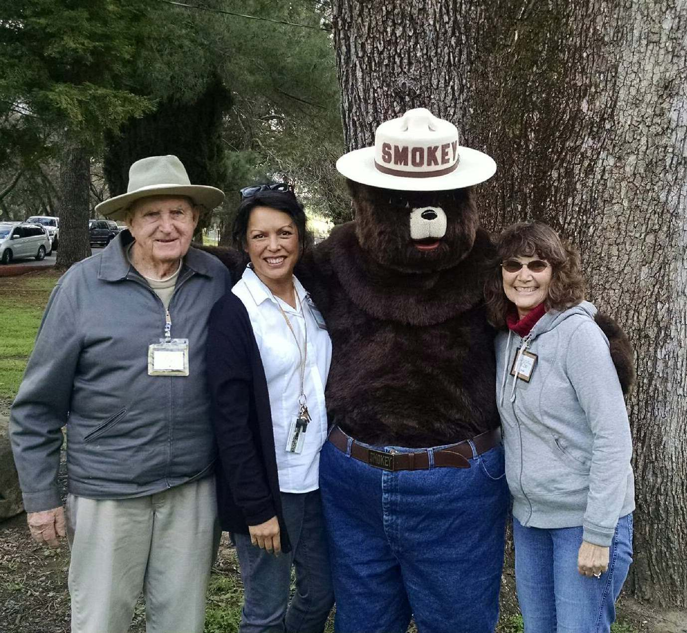 Smokey Bear and Peña Adobe Docents