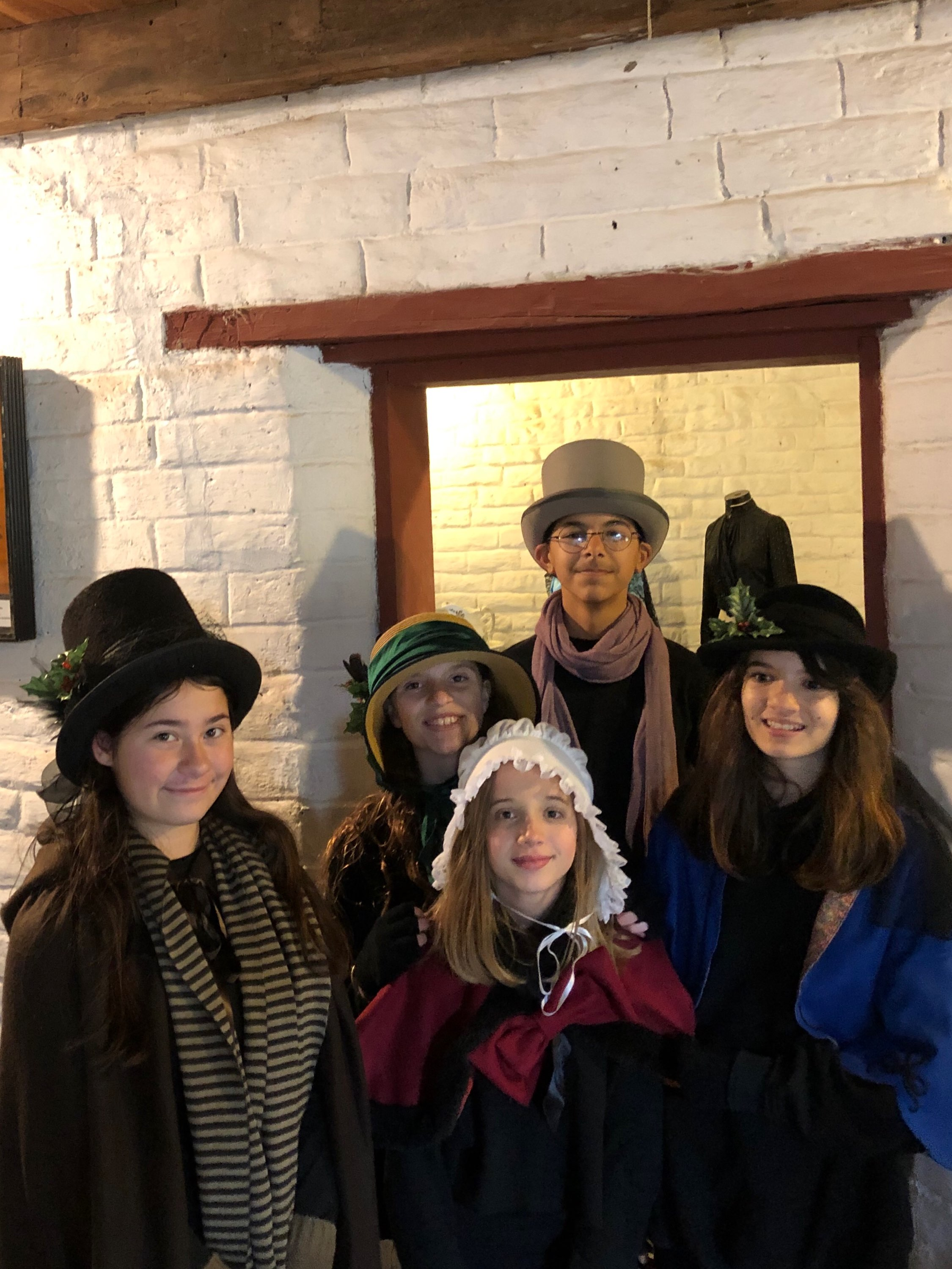 Starbound Theater Christmas Carolers at the Peña Adobe!